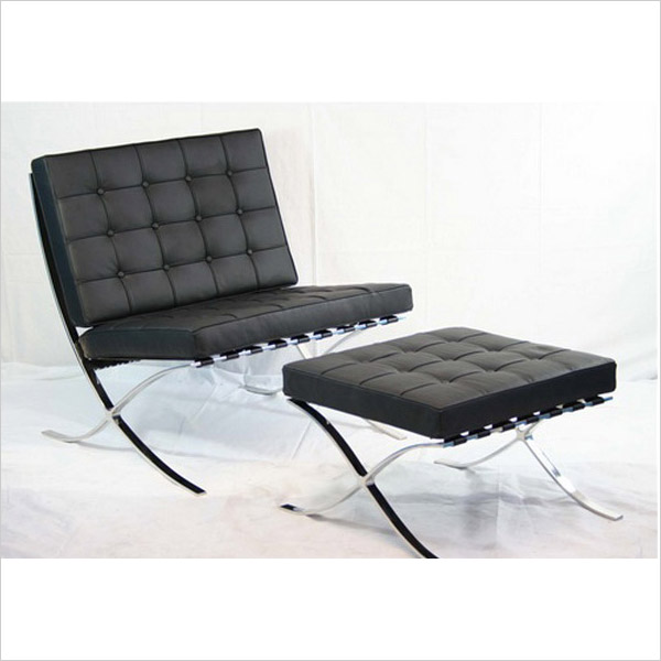 barcelona chair ottoman iconic nz design art. Black Bedroom Furniture Sets. Home Design Ideas