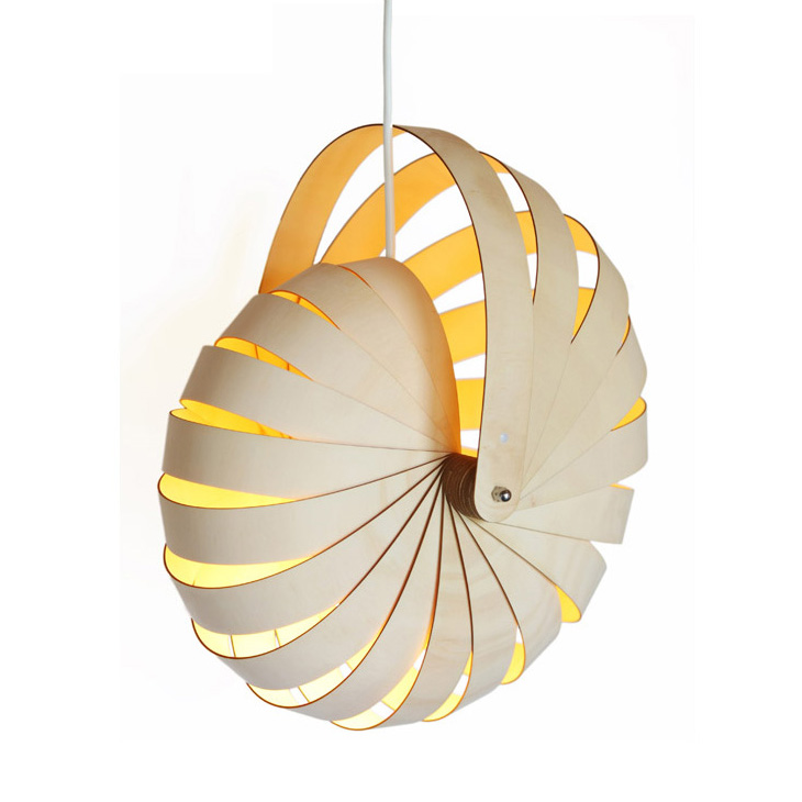 Nautilus hanging lamp shade by rebecca asquith iconic for Iconic design lamps