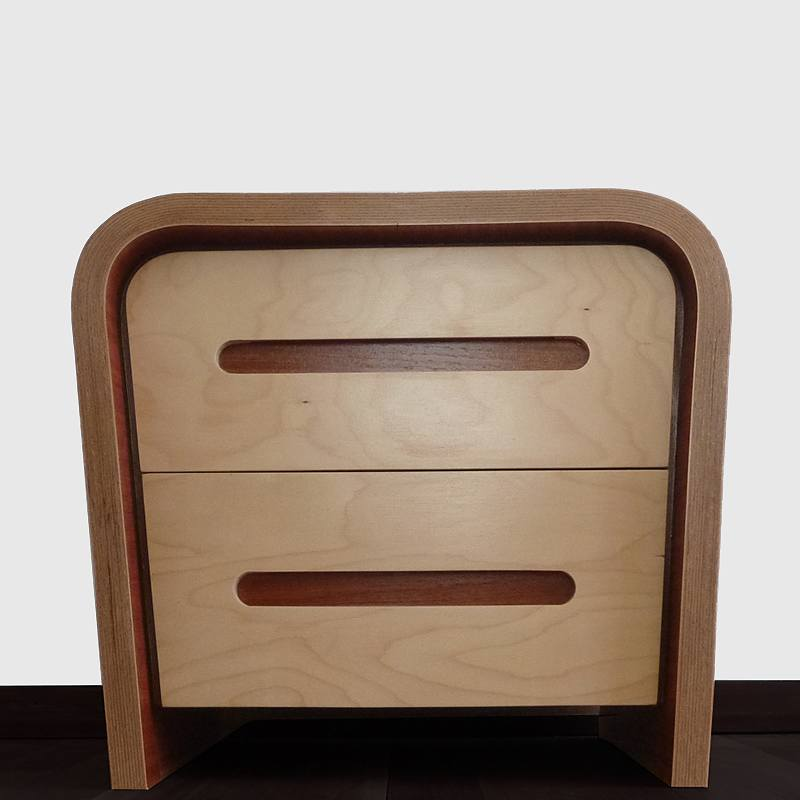 The bedside set of two drawers - nz made