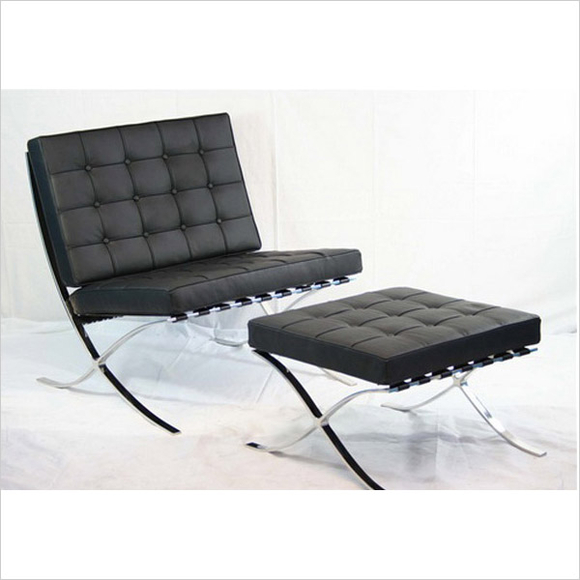 Barcelona chair ottoman iconic nz design art Iconic chair and ottoman