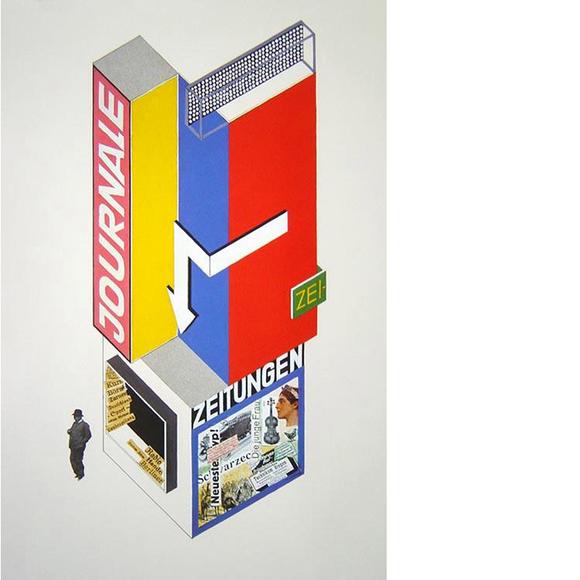 Entwurf fr einen Zeitungskiosk