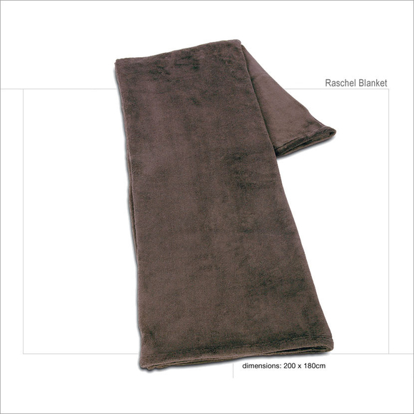 Raschel Blanket Double - chocolate