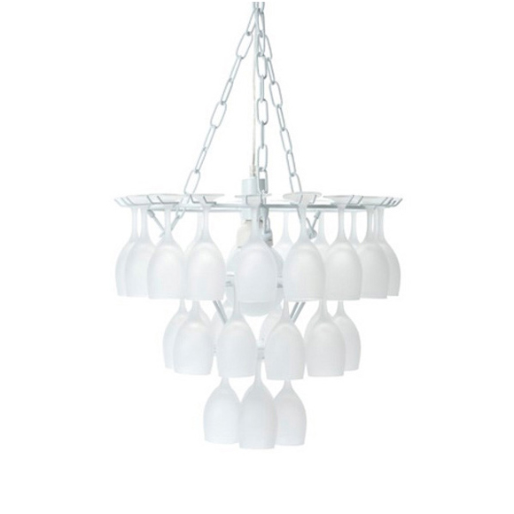Vino frosted glass chandelier