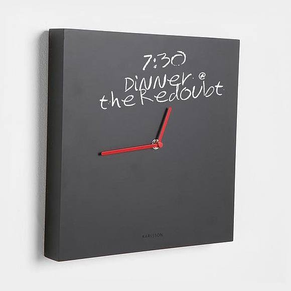 Chalkboard cube clock by Karlsson