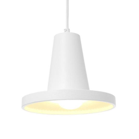 Tall minimalist white pendant lamp