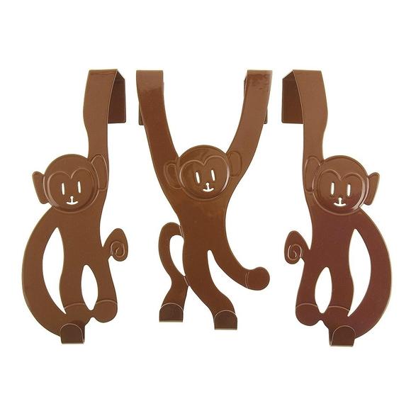 Monkey doorhanger set of three