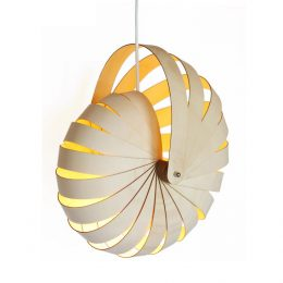 Nautilus hanging lamp shade by Rebecca Asquith
